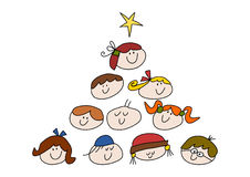 Christmas kids Stock Images