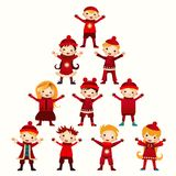 Christmas kids Tree isolated on white Stock Photo