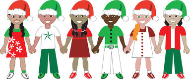 Christmas Kids United 2 Royalty Free Stock Image