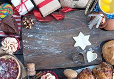 Christmas kitchen background royalty free stock images
