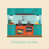 Christmas kitchen Stock Photography