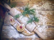 Christmas kitchen table Stock Photography