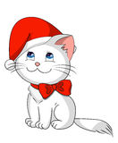 Christmas kitty Stock Images