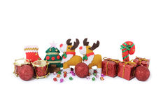 Christmas knick knacks and toy. S isolated on white background Stock Photo