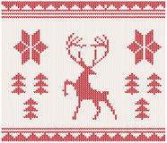 Christmas Knitted background Stock Photos