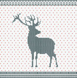 Christmas Knitted background Royalty Free Stock Images