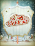 Christmas knitted background. EPS 10 Royalty Free Stock Photo