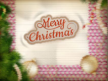 Christmas knitted background Royalty Free Stock Image
