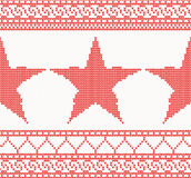 Christmas Knitted background with star. Christmas Knitted background with star and ornament. Christmas concept for banner, placard, billboard or web site. New Stock Photography