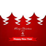 Christmas knitted background with tree Stock Photo
