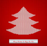 Christmas knitted background with tree Stock Photography