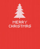 Christmas knitted background with tree. Vector illustration. Christmas knitted background with tree. Vector illustration EPS 10 Royalty Free Stock Photo
