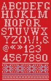 Christmas knitted font in Scandinavian style on background Royalty Free Stock Image