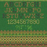 Christmas knitted Font Royalty Free Stock Photos