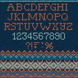 Christmas knitted Font Stock Photography