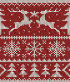 Christmas knitted pattern royalty free stock image