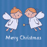Christmas knitted pattern Stock Image