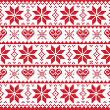 Christmas knitted pattern, card - scandynavian stock images