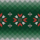 Christmas knitted pattern. Geometric abstract seamless pattern. vector illustration