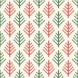 Christmas knitted pattern. Winter geometric seamless pattern. De vector illustration