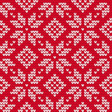 Christmas knitted seamless pattern Royalty Free Stock Photography