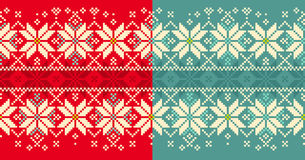 Christmas knitted seamless pattern Royalty Free Stock Photo