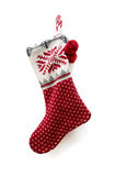 Christmas knitted sock Royalty Free Stock Photos