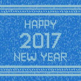 Christmas knitted sweater design pattern. Happy New Year 2017 text. Vector. Christmas blue knitted sweater design pattern. Happy New Year 2017 text. Vector EPS10 Royalty Free Stock Photos