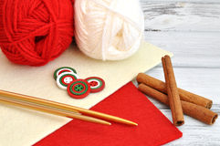 Christmas Knitting Stock Images