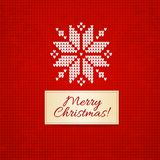 Christmas knitting  background Royalty Free Stock Photos