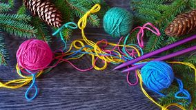 Christmas knitting Stock Photography