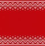 Christmas knitting seamless pattern. Knitted texture. Vector   Stock Image