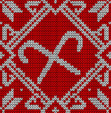Christmas knitting sweet pattern Royalty Free Stock Photography