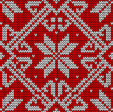 Christmas knittng pattern Royalty Free Stock Image