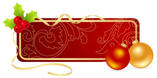 Christmas label Royalty Free Stock Images