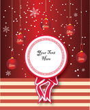 Christmas label Stock Images