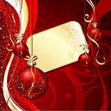 Christmas label background Royalty Free Stock Images