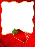 Christmas label background Stock Images