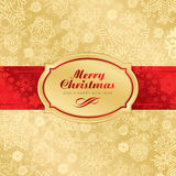 Christmas label background (vector) Stock Photos