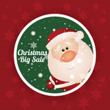 Christmas label Royalty Free Stock Image
