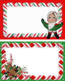 Christmas Label Borders Ribbon Candy Royalty Free Stock Photo
