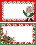 Christmas Label Borders Ribbon Candy Royalty Free Stock Photo