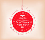 christmas label card Royalty Free Stock Photography