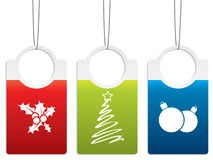 Christmas label designs Stock Images