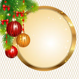 Christmas label Stock Photography