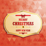 Christmas  label. With holidays greeting Royalty Free Stock Images