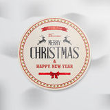 Christmas label. With holidays greeting vector illustration
