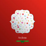 Christmas  label. With holidays greeting Royalty Free Stock Image