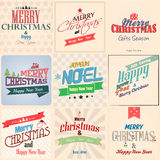 Christmas  label. With holidays greeting Royalty Free Stock Photo