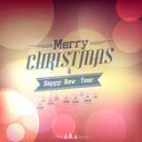Christmas  label. With holidays greeting Royalty Free Stock Photography